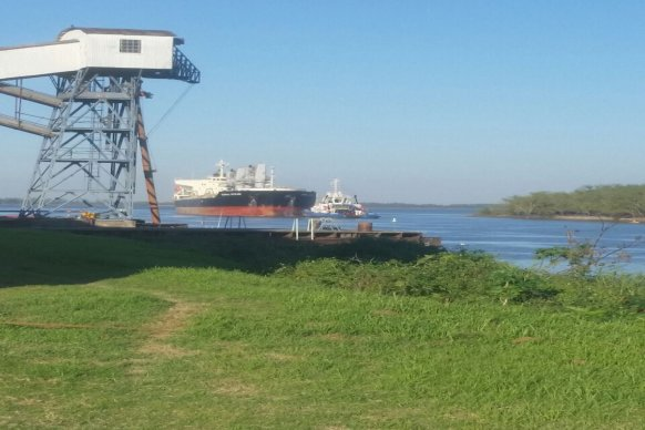 El puerto de Diamante intensifica su operatividad con cargamentos de trigo y soja