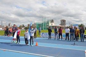 Quedó inaugurada la Final Provincial de los Juegos Evita en Atletismo