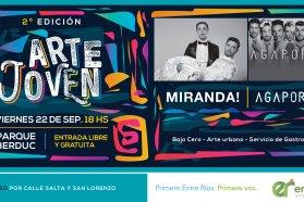 Miranda y Agapornis se presentarán en el Parque Berduc, de Paraná