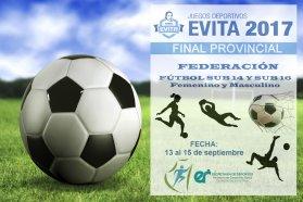 La final provincial de los Juegos Evita en fútbol es en Federación