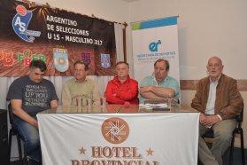 Presentaron el Campeonato Argentino Sub 15 de básquet