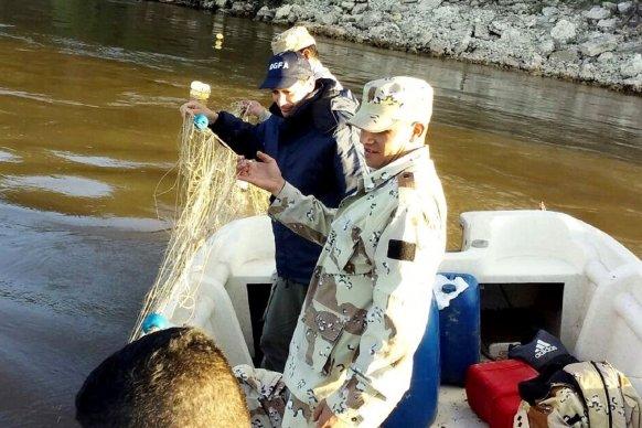 Realizaron un operativo fluvial de control en el río Paraná