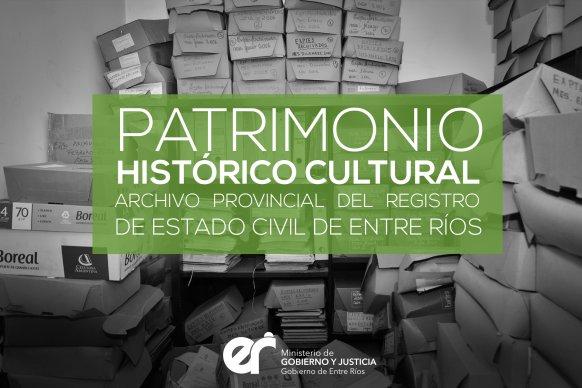 Entre Ríos es la primera provincia en declarar patrimonio histórico-cultural el archivo del Registro Civil