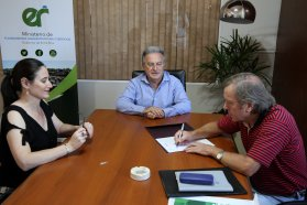 Se firmó el contrato para el traslado de lagunas en General Ramírez