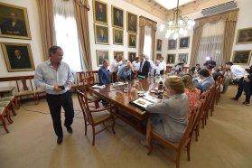 Bordet coordinó con su gabinete las primeras acciones del 2018