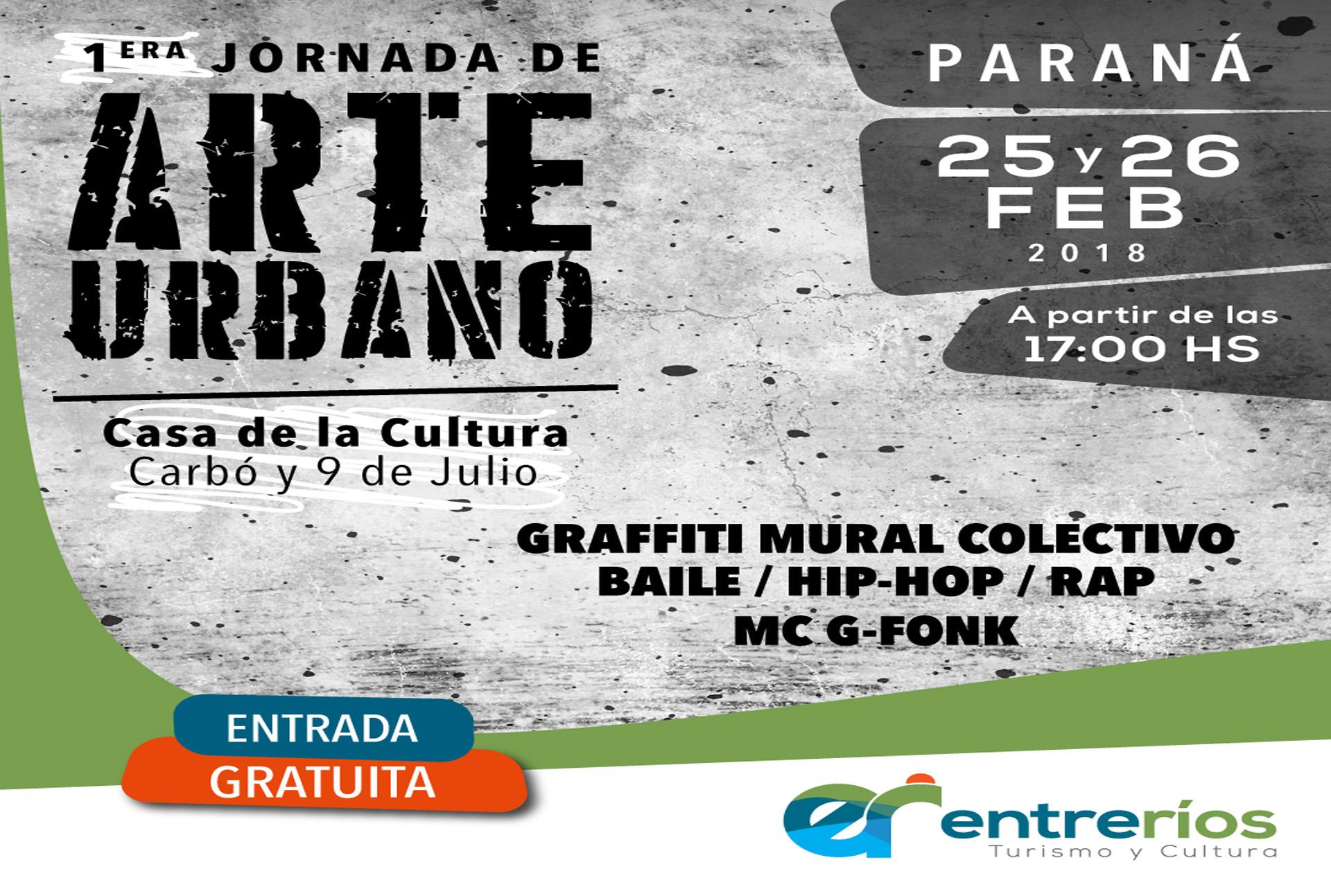 .Se realizará la 1º Jornada de Arte Urbano en Paraná.