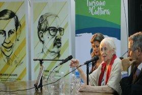 """Calloni: """"Tenemos que hacer consignas creativas, fuertes, hermosas; los insultos no bastan"""""""