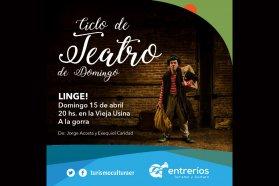 Se presentará el unipersonal Linge! a la gorra en La Vieja Usina