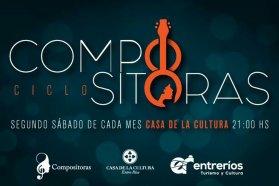 Este sábado compositoras entrerrianas en la Casa de la Cultura