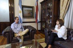 Bordet analizó con Moreno el avance de obras en Feliciano
