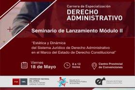 Un seminario abierto de Derecho Administrativo orientado a la gestión pública se desarrollará el viernes