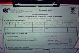 Este domingo se realizará el Censo Provincial de Población en Aldea Brasilera