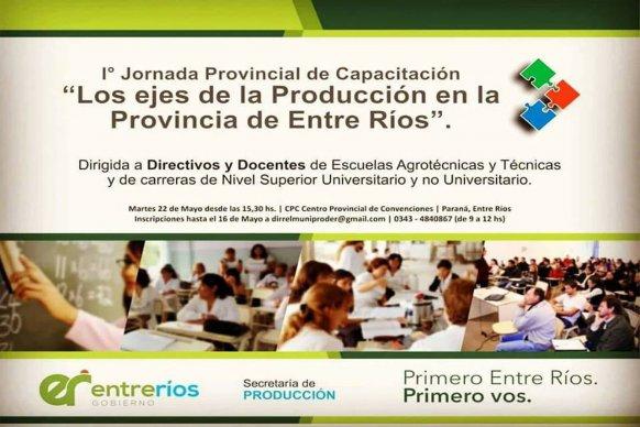 Se desarrollará en Paraná la primera jornada de capacitación sobre producción