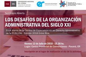 Dictarán un seminario abierto en Derecho Administrativo