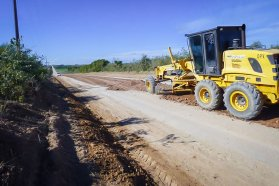 Vialidad lleva adelante un plan de reparación de caminos rurales en el departamento Diamante