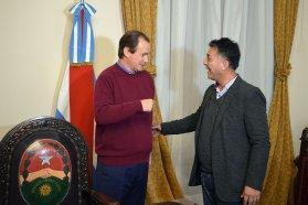 Bordet dialogó con el intendente de La Criolla sobre la marcha de las obras en la localidad