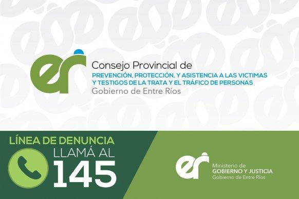 Se inicia la campaña de sensibilización y prevención sobre Tráfico y Trata de Personas en Entre Ríos