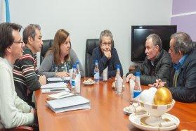 La titular de Vialidad se reunió con Ballestena y el intendente de Santa Elena
