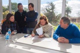 Se firmó el acta de inicio de la obra para rehabilitar el acceso a San Justo