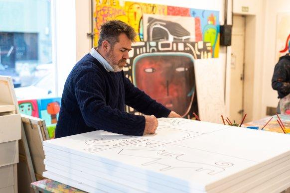 El artista plástico Milo Lockett expondrá sus cuadros en la Fundación Magma, de Concordia