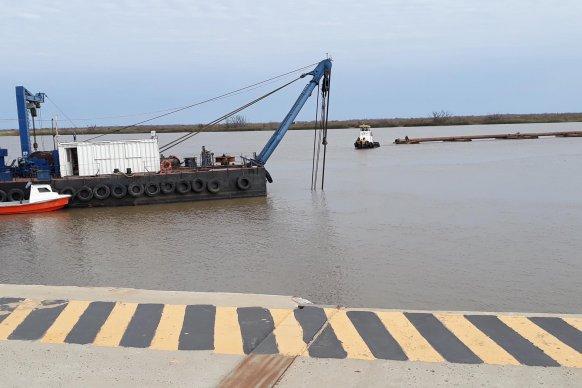 Verificaron la marcha de las tareas de dragado en el puerto de Ibicuy
