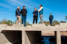 Avanza la construcción de la calzada sobre arroyo Maturrango en Estación Sosa