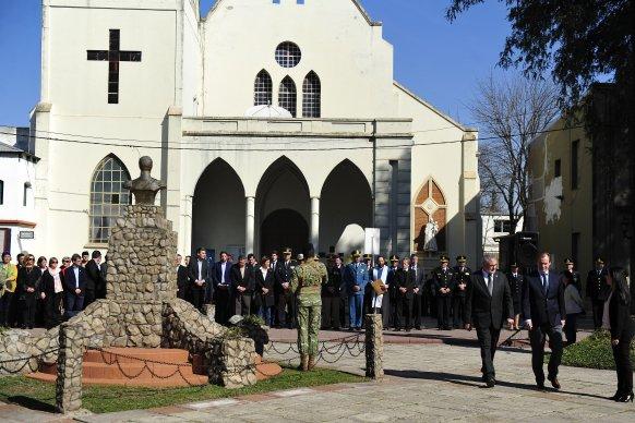 Bordet instó a superar antinomias estériles y a tener claros los valores de San Martín