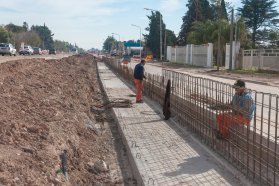 La obra del acceso sur a Paraná presenta un 65 por ciento de avance