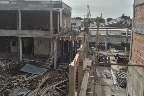 Avanza la construcción del nuevo edificio de la escuela técnica Nº 68  Facundo Arce de Seguí