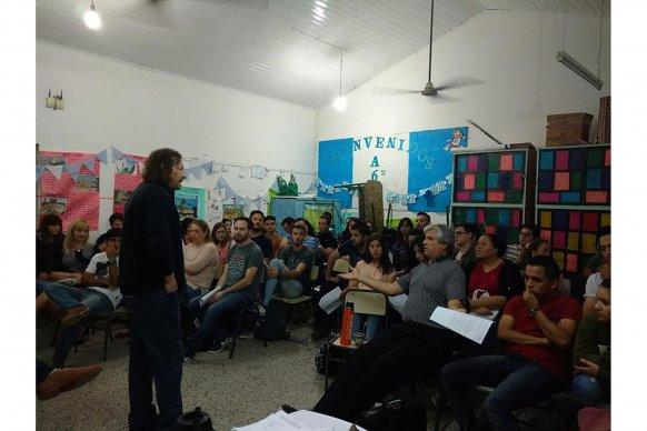 Se realizó un taller sobre Construcción de la Memoria colectiva en la escuela en Puiggari
