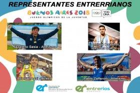Cuatro entrerrianos compiten en los Juegos Olímpicos de la Juventud Buenos Aires 2018