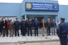 Se inauguró el nuevo edificio de la Comisaría Primera de Rosario del Tala