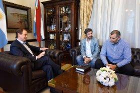 Bordet repasó con el presidente de la Codesal las obras en la zona del perilago de Concordia