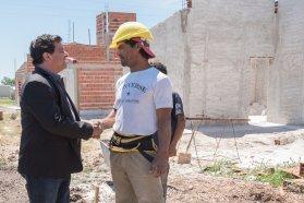 En Aranguren se construyen viviendas financiadas por la provincia