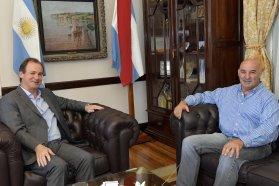 Bordet analizó con Navarro la marcha de obras en el departamento Tala