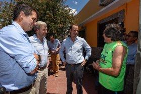 Bordet y Frigerio inauguraron obras del programa Hábitat en cinco barrios de la zona sur de Concordia