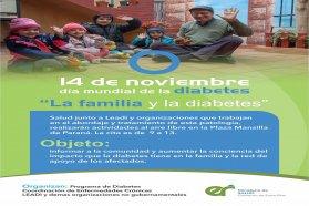 Realizarán actividades en la Plaza Mansilla por el día mundial de la diabetes