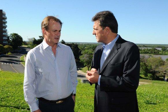 Massa destacó la gestión  de Bordet en medio de la crisis que atraviesa el país