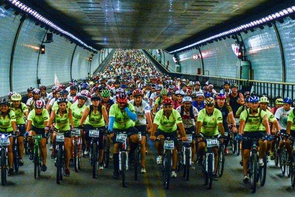 El domingo se realizará el Cruce del Túnel Subfluvial en bicileta