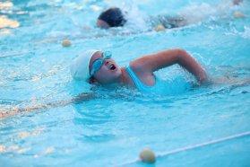 Los alumnos de Diamante mostraron lo aprendido en el taller de natación