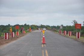 Avanzan las tareas de rehabilitación del acceso sur a Villaguay
