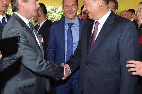 Bordet estuvo con el presidente de China Xi Jinping