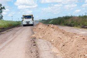 Avanzan los trabajos de consolidación de la ruta 20 entre Villaguay y Federal