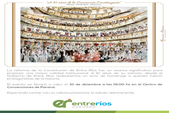 Se homenajeará a los Convencionales Constituyentes de Entre Ríos
