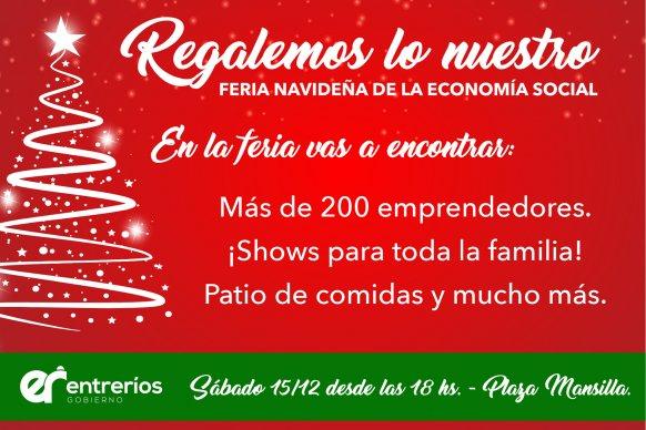 Este sábado se realizará la tercera edición de la feria navideña Regalemos lo Nuestro