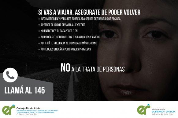 Se realizan tareas de prevención contra la trata de personas en los operativos de Verano Seguro
