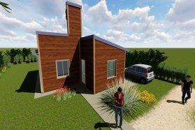 La provincia adjudicó las primeras viviendas de madera