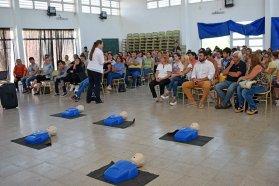 Se realizó una capacitación de RCP en Colonia Avellaneda