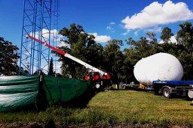 Colocan tanque de agua en Colonia San Pedro
