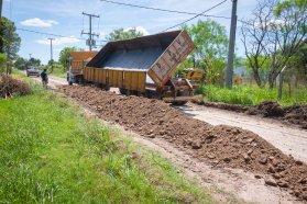 Consolidan calles y caminos de Sauce Montrull en el departamento Paraná
